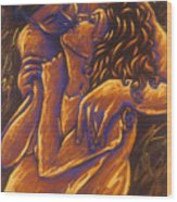 Los Amantes The Lovers Wood Print