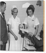 Man Male Handing Award Nurse February 1964 Black Wood Print