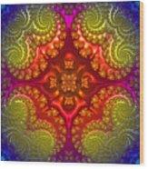 Mandala For Awakening The Creative Energy Wood Print