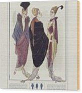 Manteau De Velours Bleu Wood Print