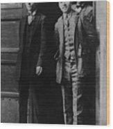 Men Males In Suits Standing Doorway June 1927 Wood Print