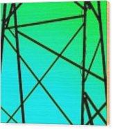 Metal Frame Abstract Wood Print