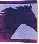 Mindy's Purple Horse  Wood Print