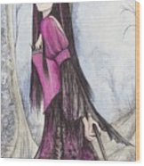 Mis Witch  Wood Print