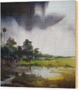 Monsoon Village  Wood Print