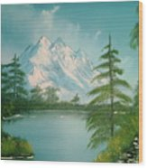Mountain High Wood Print