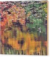 New England Reflections Wood Print by Betty LaRue