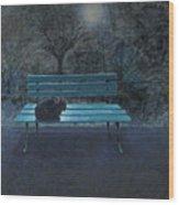 Night in the Garden Wood Print