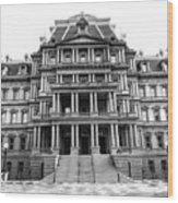 Old Executive Office Building Bw Wood Print
