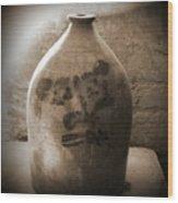 Old Time Jug In Sepia Wood Print