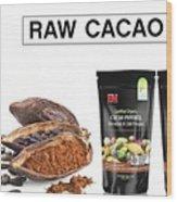 Organic Unroasted Cacao Powder Wood Print