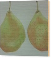 Pair Of Pears Wood Print