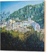 Papigno Village Wood Print