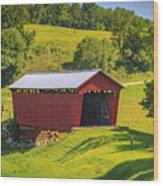 Parrish  Covered Bridge  Wood Print