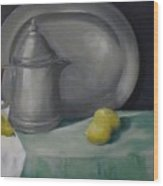 Pewter And Fruit Wood Print