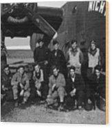 Pilot Crew W Airplane Nightmare 19411945 Black Wood Print
