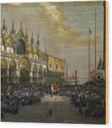 Popolo Di Venezia Solleva Wood Print