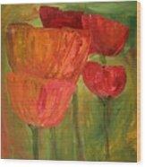Poppies 2 Wood Print