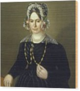 Portrait Of The Wife Of Israel  Wood Print