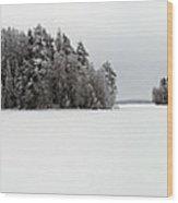 Pyhajarvi Panorama 2 Wood Print