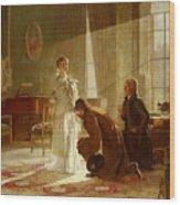 Queen Victoria Receiving News Wood Print