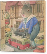 Rabbit Marcus The Great 18 Wood Print