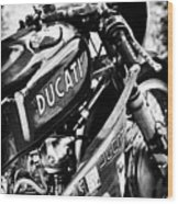 Racing Ducati Monochrome Wood Print