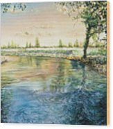 River Bend Wood Print