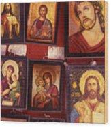 Religious Icons Wood Print