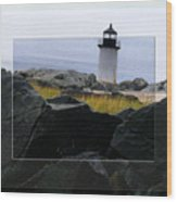 Rocks View Wood Print