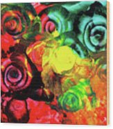 Roses 2 Wood Print