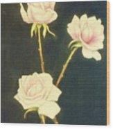 Roses In Full Bloom Wood Print