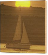 Sailing Into The Sunset Wood Print