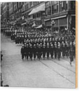 Sailors Marching In Parade 19171918 Black White Wood Print