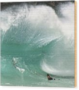 Sandy Beach Shorebreak Wood Print