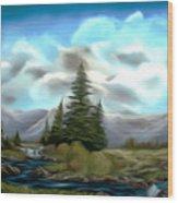 Serpentine Creek Dreamy Mirage Wood Print