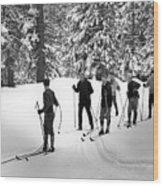 Skiers January 19 1967 Black White 1960s Archive Wood Print
