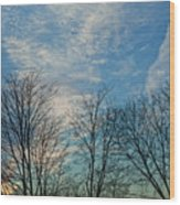 Sky And Cloouds Early Evening Wood Print