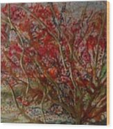 Song Of Autumn  Wood Print