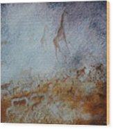 South African  Pertroglyph Wood Print
