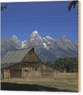 South Moulton Barn Grand Tetons Wood Print
