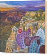 South Rim Wonders Wood Print by Jany Schindler