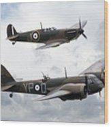 Spitfire And Blenheim Wood Print