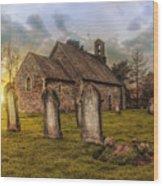 St Oswald At Sundown Wood Print