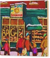 St. Viateur Bagel Family Bakery Wood Print