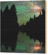 Starry Dreamscape Wood Print