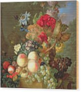Still Life With Auriculus  Wood Print