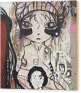 Strange Girl Wood Print