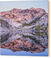 Leprechaun Lake Sunrise Wood Print