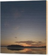 Sunset At The Gulf Of Bothnia 3 Wood Print